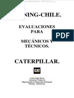 Material Examen Evaluacion Mecanicos Tecnicos Seguridad Motores Sistemas Componentes Maquinas Caterpillar
