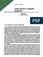 Los Efectos De La Terapia De Conducta, Dialnet