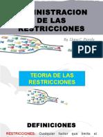 Mis Diapositivas - Admin. de Las Restricciones