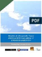 Modelo de Desarrollo Vasco. DEFLACIÓN SALARIAL Y ENDEUDAMIENTO