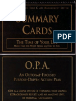 Anthony Robbins - Time of Your Life - Summary Cards