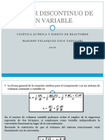 Reactor Discontinuo de Volumen Variable