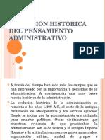 Evolución Del Pensamiento Administrativo i