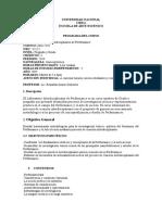 Programa de Curso Laboratorio Interdisciplinario de Performance.