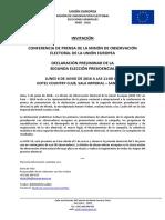 Declaración Preliminar MOE UE Perú 2016 - Segunda Elección  Presidencial