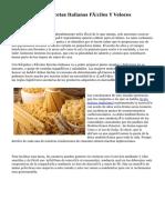 Las 10 Mejores Recetas Italianas Fáciles Y Veloces