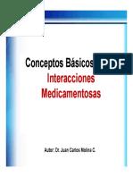 Bases de Las Interacciones Farmacológicas