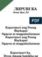 Presentation of Gifts-kapuripuri Ka