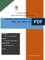 Guía de Evaluación Médico Ocupacional