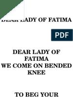 Recessional-Dear Lady of Fatima