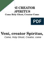ENTRANCE SONG-Veni Creator Spiritus