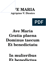 Postcommunion Floweroffering-Ave Maria Diestro