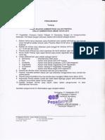 Pengumuman Hasil Seleksi Administrasi Calon Peserta Diklat Administrasi Umum Tahun 2015