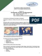 Earthquake Seminar -Flyer IEM SB