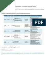 Perfil de Vagas - Concurso Relações Internacionais UFT
