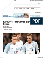 Euro 2016_ Fans Warned Over Illegal Tickets - BBC News