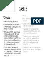 Cables (Vga & Hmdi)