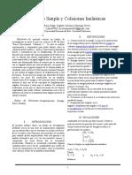 Péndulo Simple y Colisiones Inelásticas en Formato IEEE