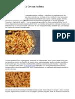 Los diez Mitos De La Cocina Italiana
