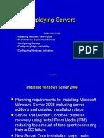 Fast Track 1 Deploying Servers