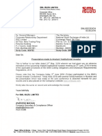 Presentation made to Analyst / Institutional Investor [Company Update]