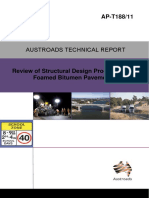 AP-T188-11- Review of Structural Design Procedures for Foamed Bitumen Pavements