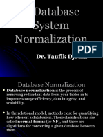 DataBase System Normalization