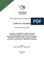 Teoría del consumidor- Microeconomia