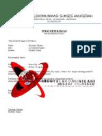 Surat Keterangan Pegawai Indotel