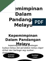 Kepemimpinan Dalam Pandangan Melayu
