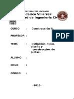 Juntas de construcción