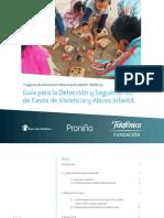 Guia Para La Detencion y Seguimiento de Casos de Violencia y Abuso Infantil