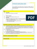 Steps Quantitative Data Analysis