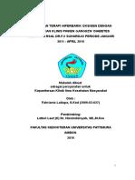 Hubungan Terapi Hiperbarik Oksigen Dengan Perbaikan Klinis Pasien Gangren Dm Di Rsal Dr. f.x Suhardjo Periode Januari 2011- April 2016