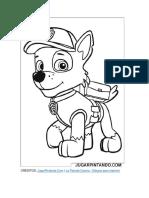 La Patrulla Canina Para Imprimir Y Colorear
