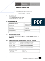 (U-1) Memoria Descriptiva Busqueda Registral