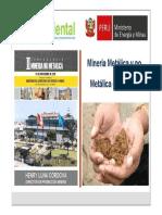Mineria Metálica y No Metálica en El Peru