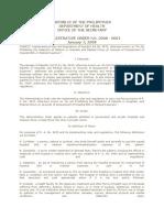 Administrative Order No. 2008-0001