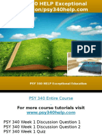 PSY 340 HELP Exceptional Education-psy340help.com