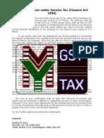 Annual Returns Under Service Tax