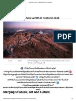 Mount Abu Summer Festival 2016 _ Tourism Infopedia