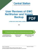 EMC NetWorker vs. Veeam Backup Report From IT Central Station 2016-03-04