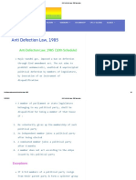 Anti Defection Law, 1985 Iasmania