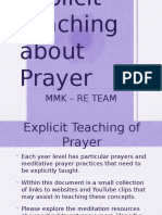 explicit teaching of prayer