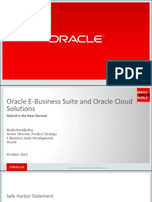 E-Business Suite and Oracle Cloud - Practical Coexistence