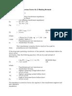 Xfm Impedance Correction Factor for 2 Winding Network Transformrers