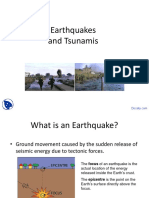 Earthquakes and Tsunamis - Environmental Engineering - Lecture Slides PDF