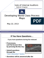 Developing World Class Process Maps
