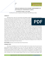 INFLUENCE OF MICROFINANCE SERVICES ON ECONOMIC EMPOWERMENT OF WOMEN IN OLKALOU CONSTITUENCY, KENYA