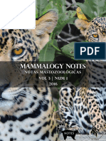 Mammalogy Notes Vol3Num1